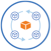 Icon for supply chain management